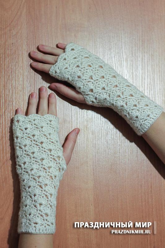 перчатки без пальцев зимние варежки