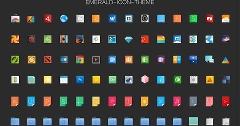 emerald icon theme updated, install in ubuntu/linux mint
