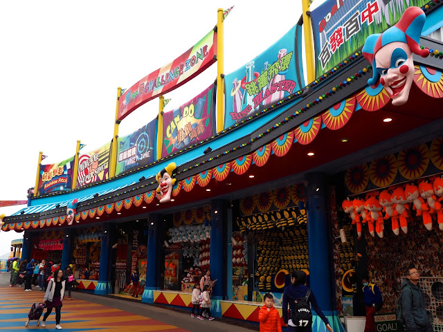 Carnival fairground games in Thrill Mountain, Ocean Park, Hong Kong