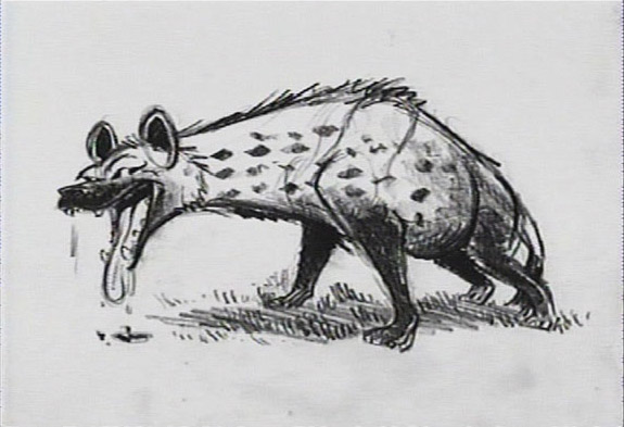 how to draw a hyena from lion king