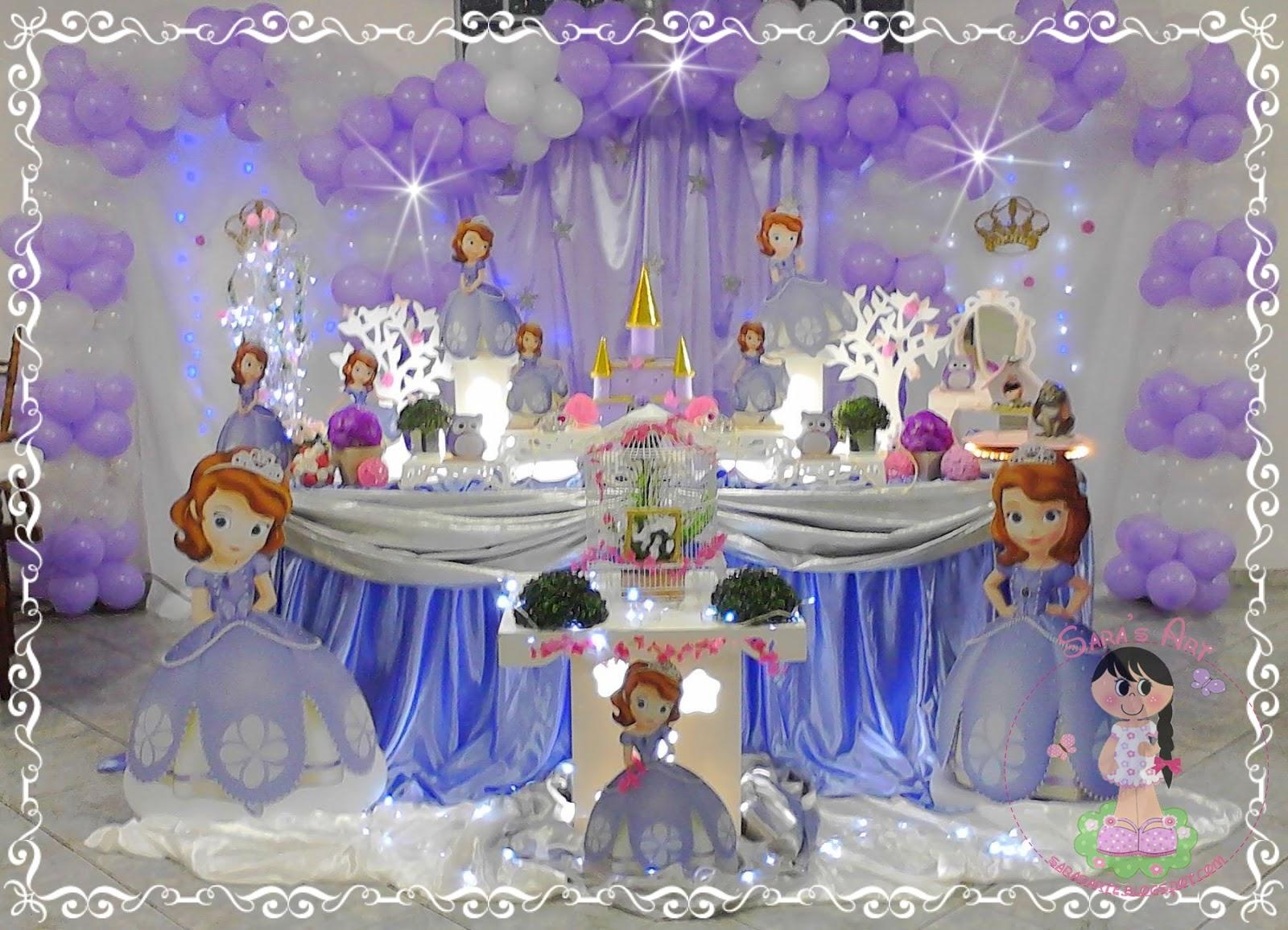 Fazendo arte Decoraç u00e3o Princesa Sofia Tradicional -> Decoração De Aniversário Princesa Sofia