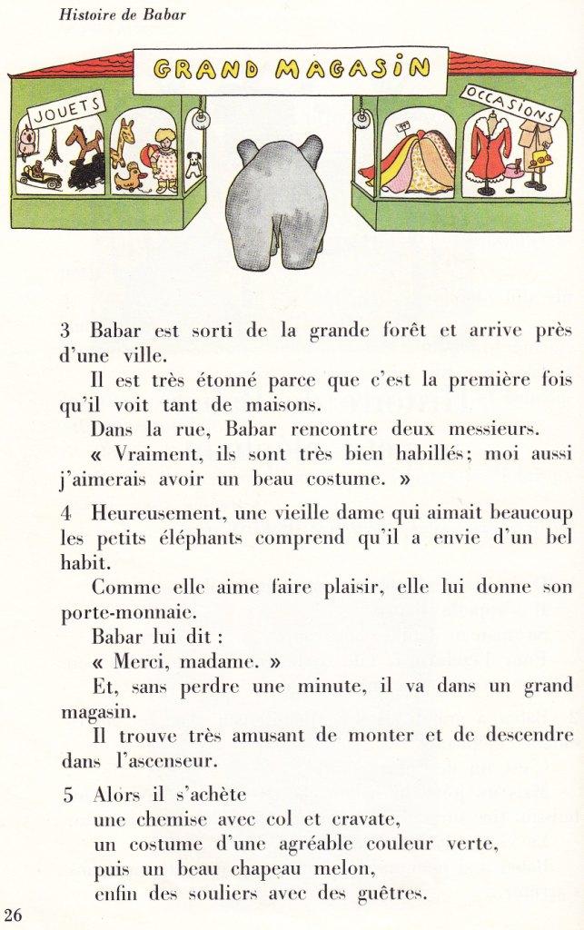 Hervorragend école : références: Histoire de Babar le petit éléphant - Jean de  KV26