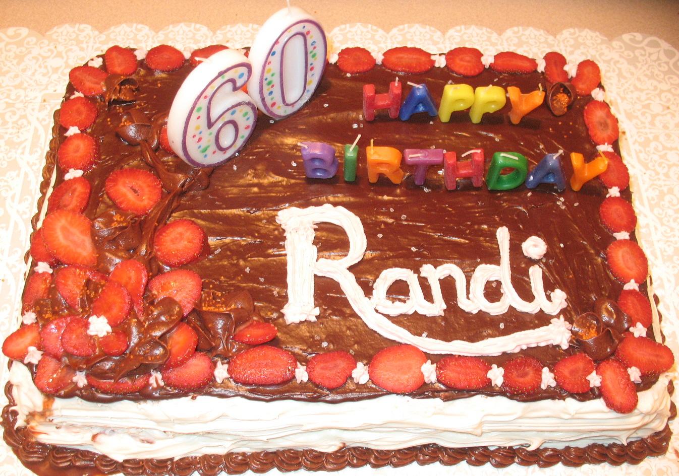 60th B'dy Cake