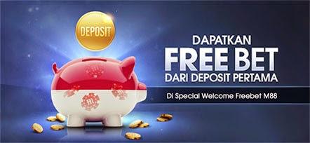 Dapatkan Bonus Freebet setiap Deposit di M88