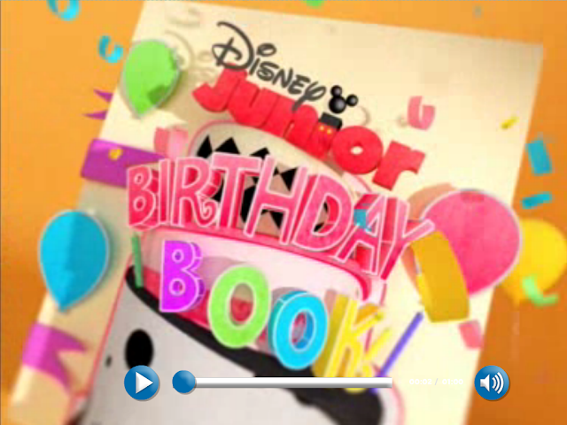... Rains picture to appear (hopefully) on the Disney Jr. Birthday Book