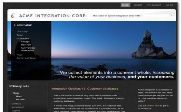 Free Blue Black Jquery Drupal Theme Template