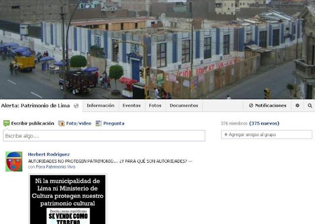 Alerta: Patrimonio de Lima
