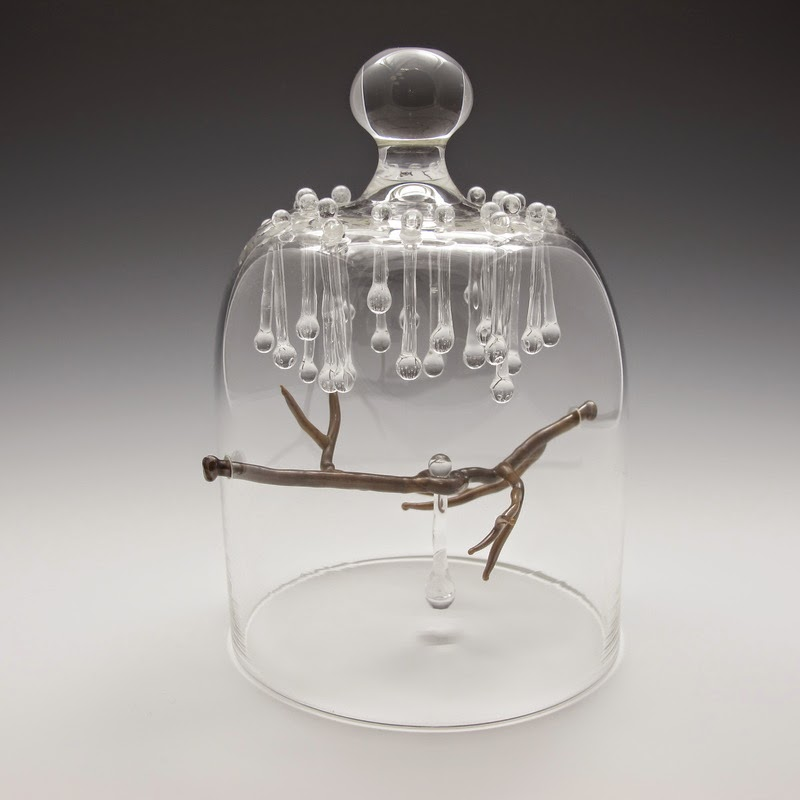 Simply Creative Bell Jar Glass Sculpture By Kit Paulson