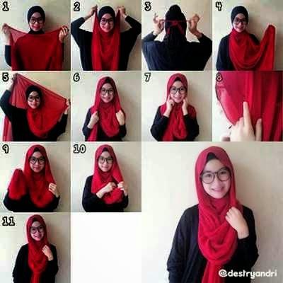 tips mudah memakai jilbab paris