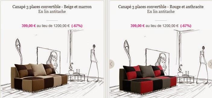 ventes privees sur internet canap s olivier lapidus. Black Bedroom Furniture Sets. Home Design Ideas