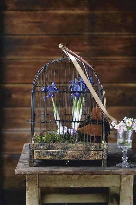 Jaulas Decoracion Venta ~ Utilizar las jaulas como florero es otro recurso muy utilizado