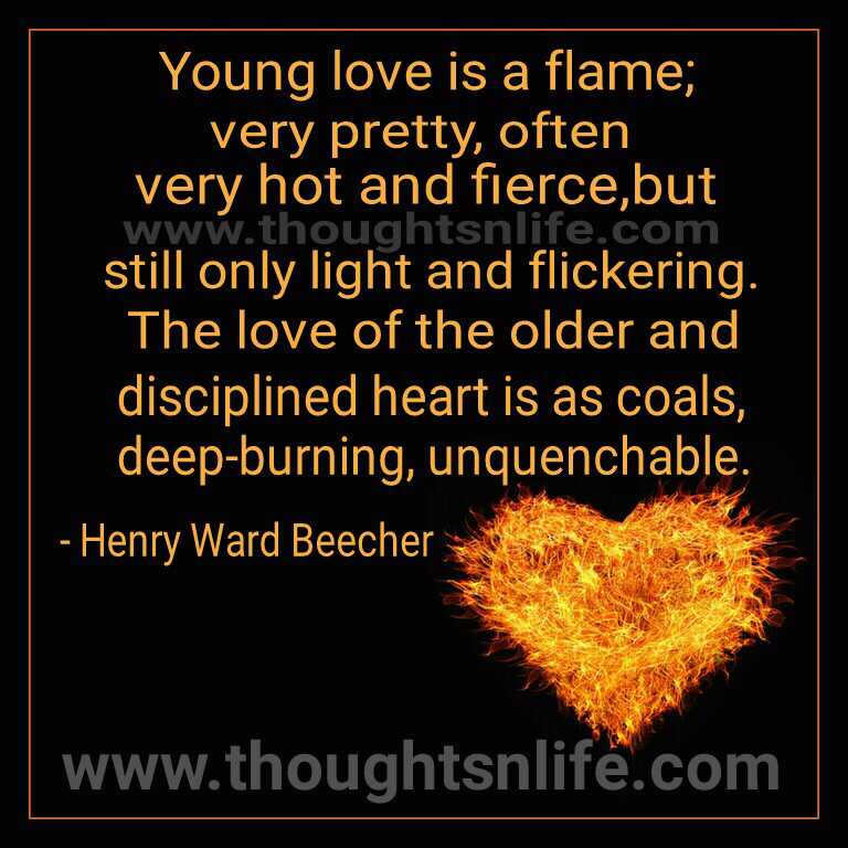 young love is a flame
