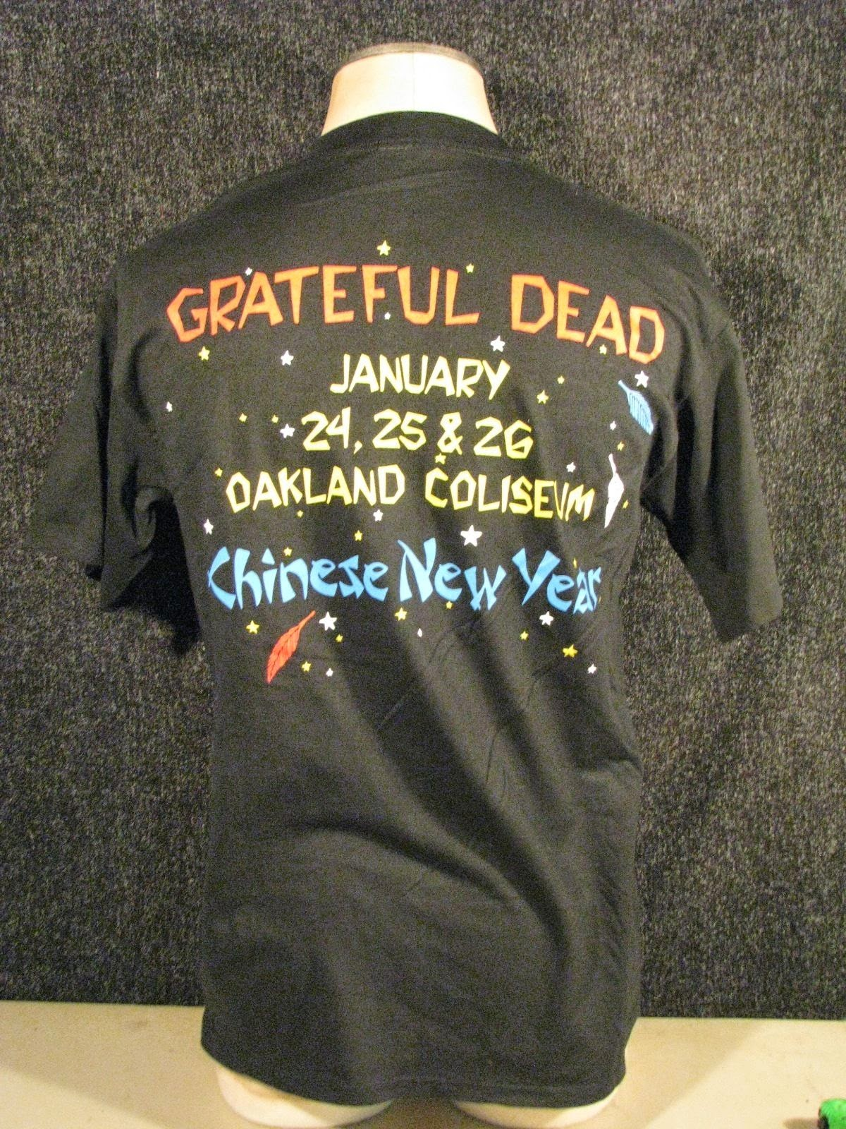 grateful dead original vintage chinese new year 1993 t shirt - Chinese New Year 1993