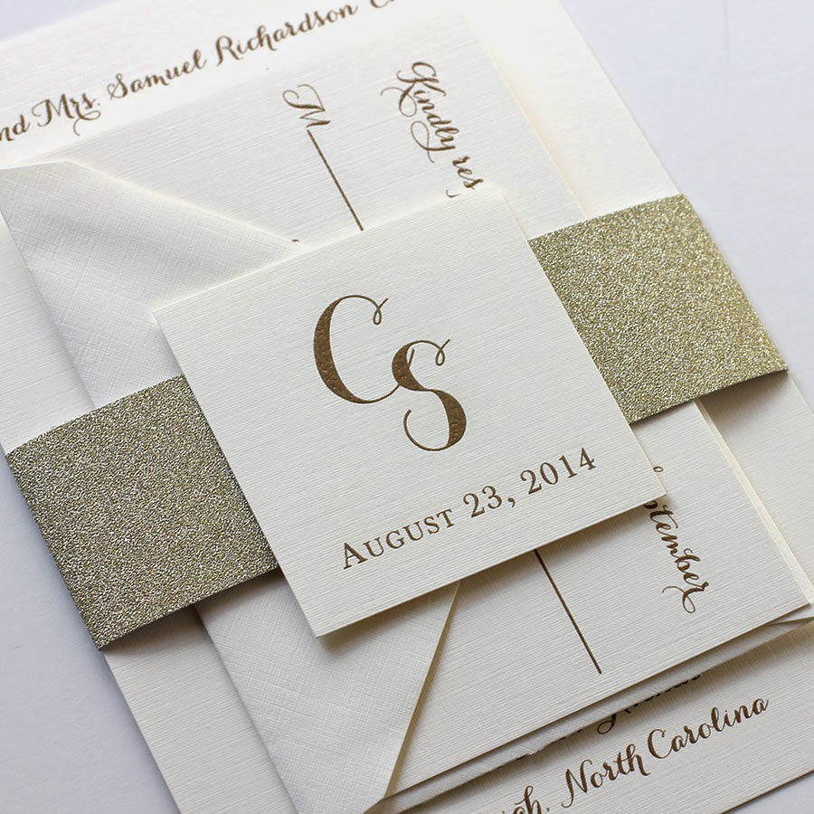 Glitter Envelope Liners & Belly Bands | Blush Paperie