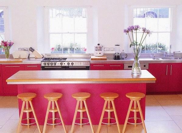 ديكور مطبخ وردي