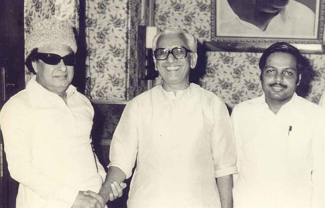 M.G. Ramachandran with Panruti S. Ramachandran & K. Karunakaran