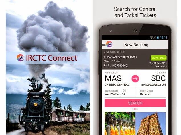IRCTC Connect Ticket Booking