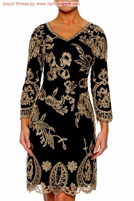 Rich Embroidered Evening Party Wear Dresses
