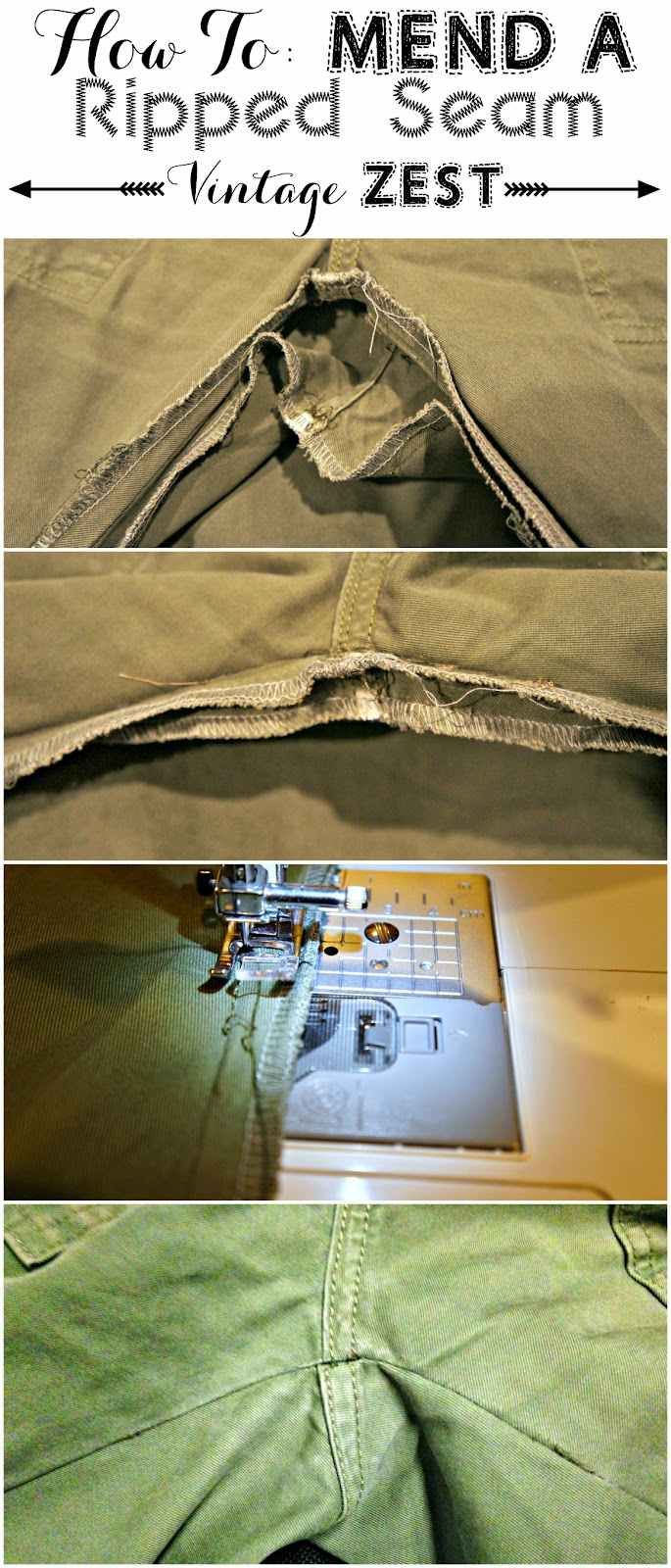How to: Mend a Ripped Seam on Diane's Vintage Zest!