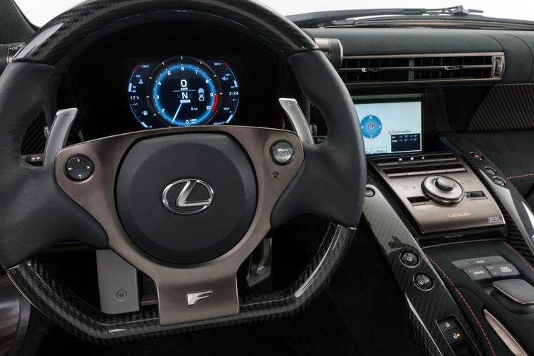 Lexus LFA Nurburgring Package steering