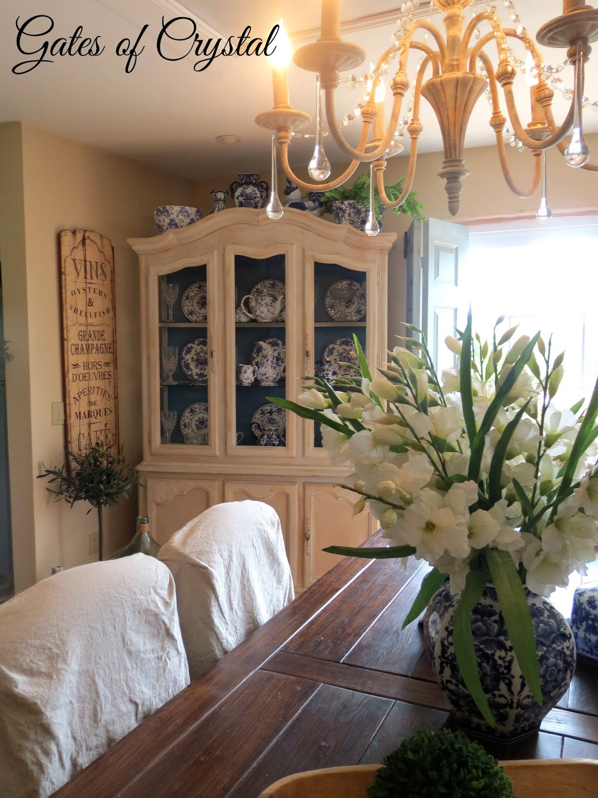 Gates Of Crystal Painting A China Cabinet