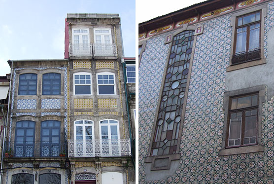 azulejos ceramic tile buildings porto portugal city guide