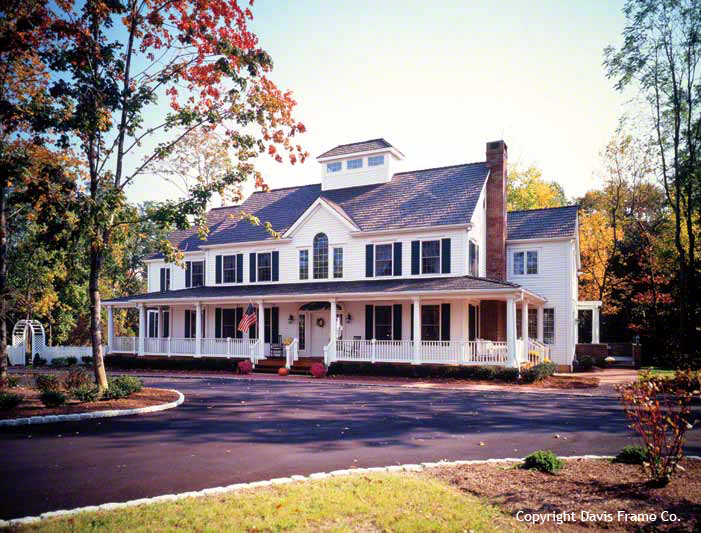 New England Colonial Style Homes with Barn