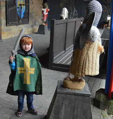Knight training and dress up at Alnwick Castle