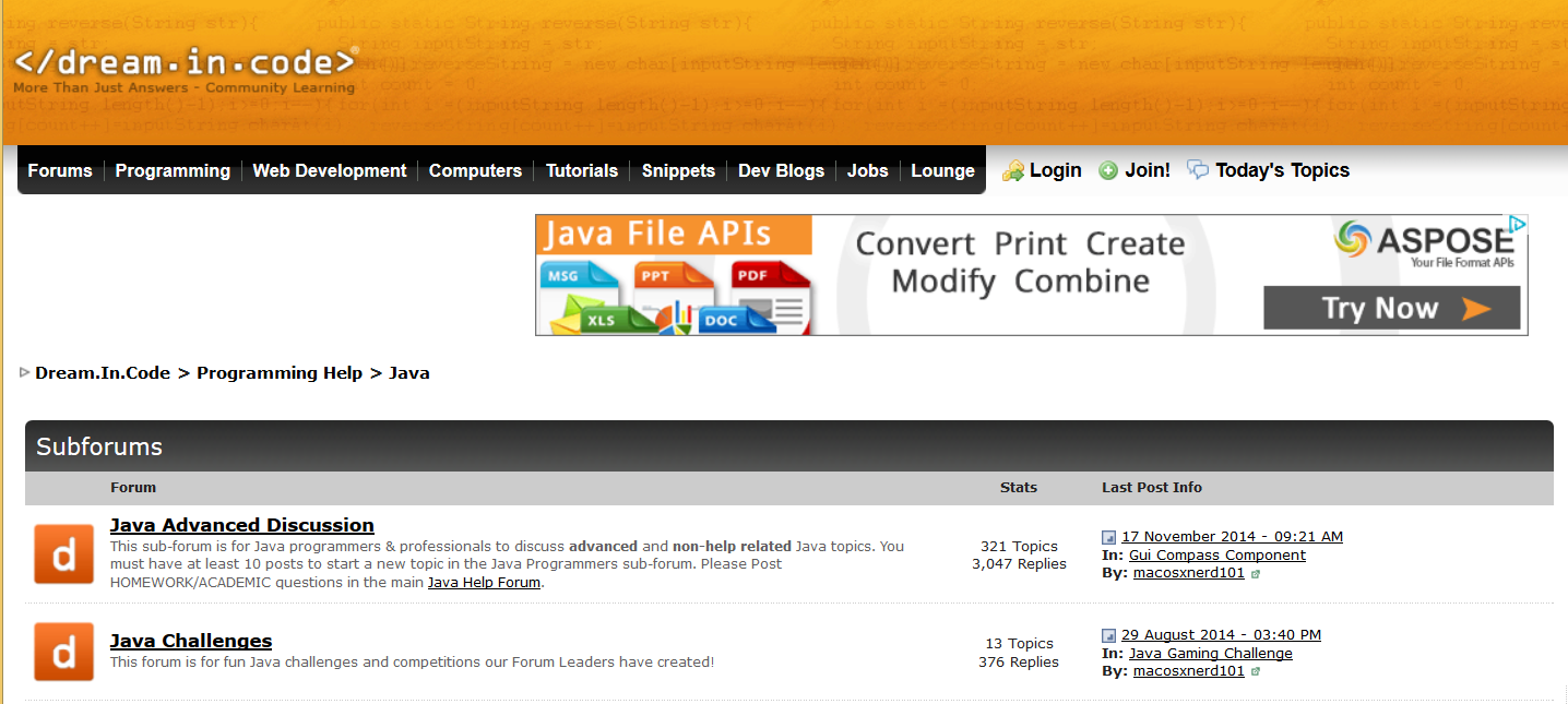 top java forums for programmers good forum for java developers