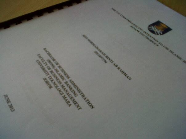 Tajuk thesis