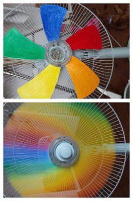 Truco para hacer un ventilador de colores