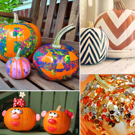 My sweet savannah no carve pumpkin ideas Easy pumpkin painting patterns
