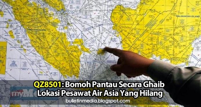 QZ8501: Bomoh Pantau Secara Ghaib Lokasi Pesawat Air Asia Yang Hilang