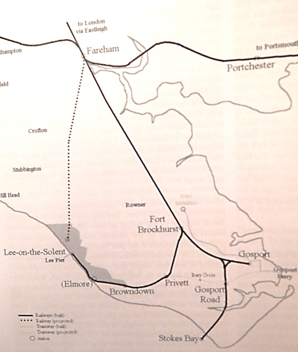 Lee line with Fareham Railway Plan