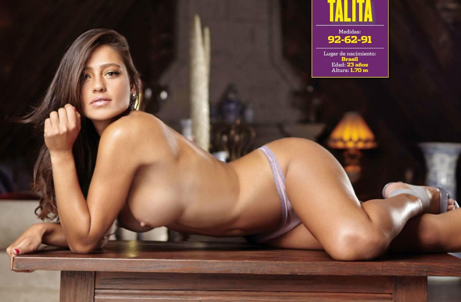 Fotos Gloria Aura Revista H Para Hombres Julio