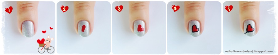 Valentine's Day - Love is in the Air Heart Nail Art