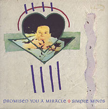 Simple Minds - Promised You A Miracle single sleeve front