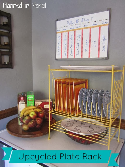 Upcycled Plate Rack