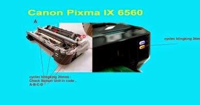 Arthanacom Ink Absober Full Canon Ix6560 New Problem In
