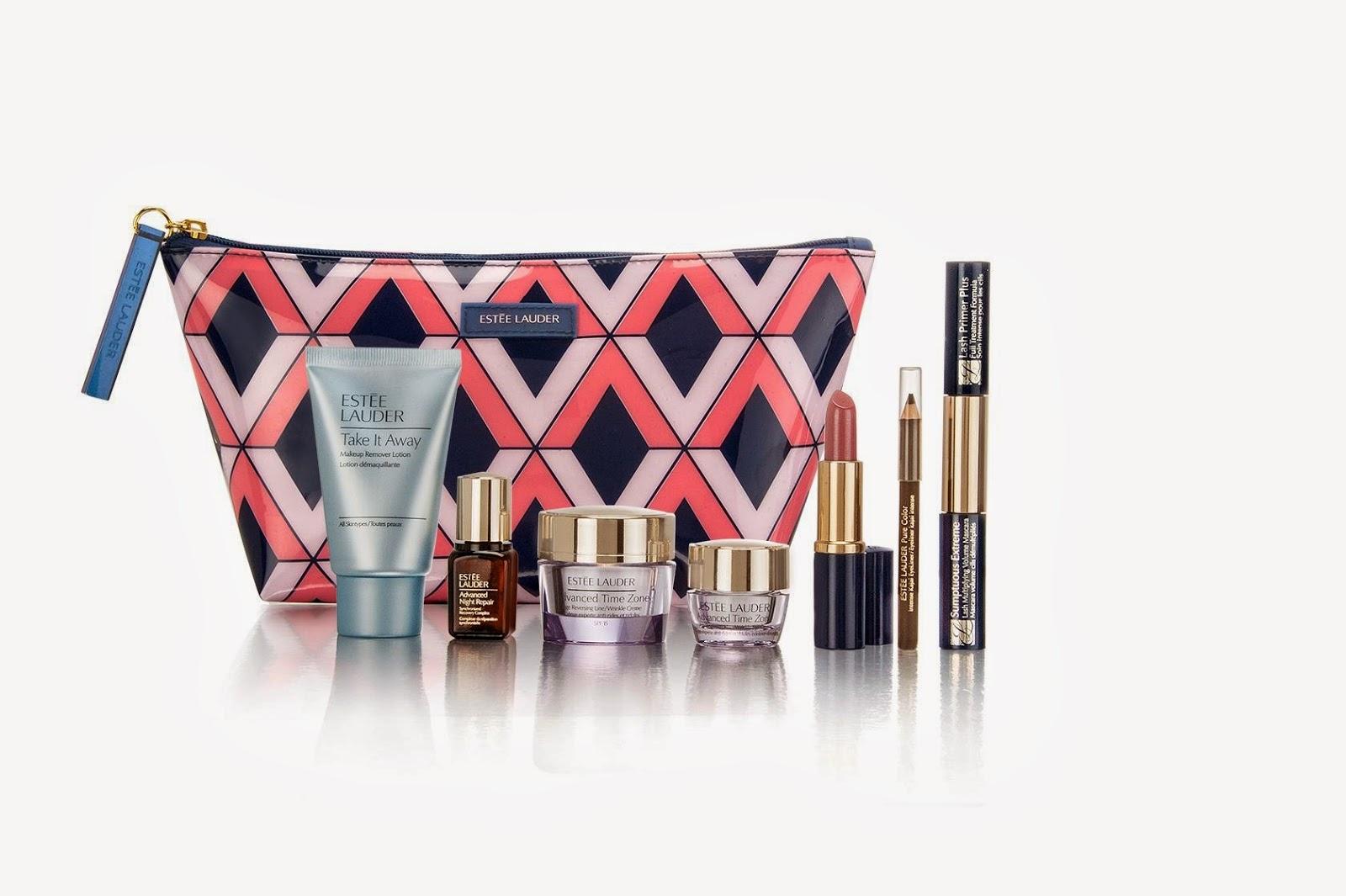 The Estée Lauder gift includes: