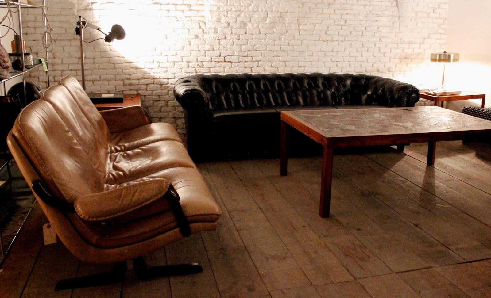 Los mejores sillones y sofas de piel vintage en madrid con for Los mejores sofas