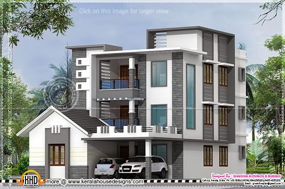 3 floor contemporary house