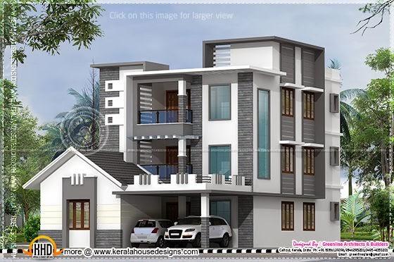 3 floor contemporary house