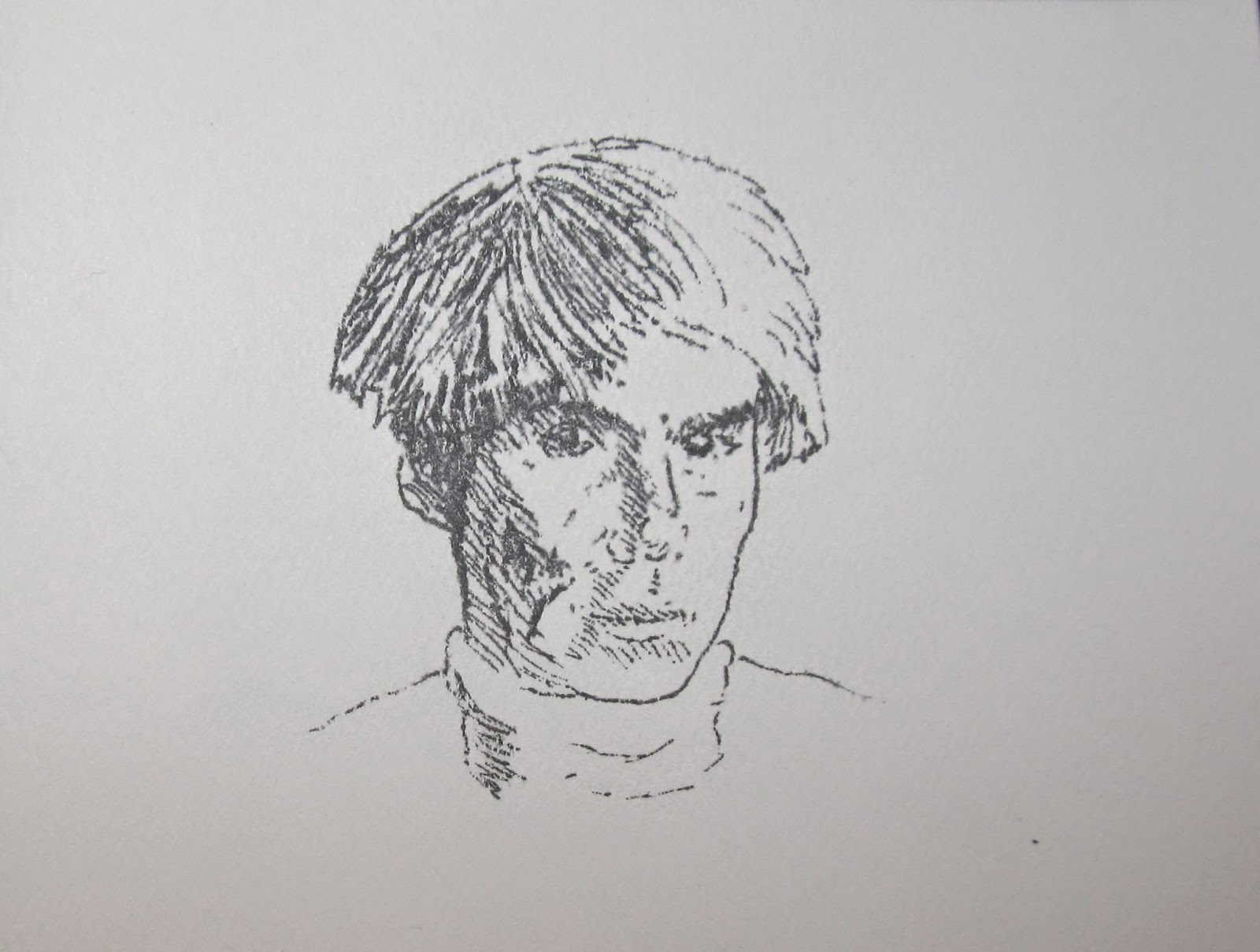 Andy Warhol - Lithograph by F. Lennox Campello. Edition of 5. 4x5 inches, circa 1980