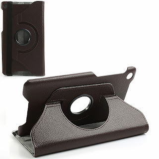 360 Degree Rotary Stand Leather Case Cover for Asus Google Nexus 7(2013) II 2nd Generation - Brown