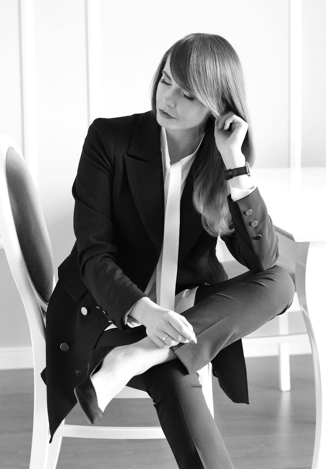 klasyczna stylizacja | biala koszula na wigilie