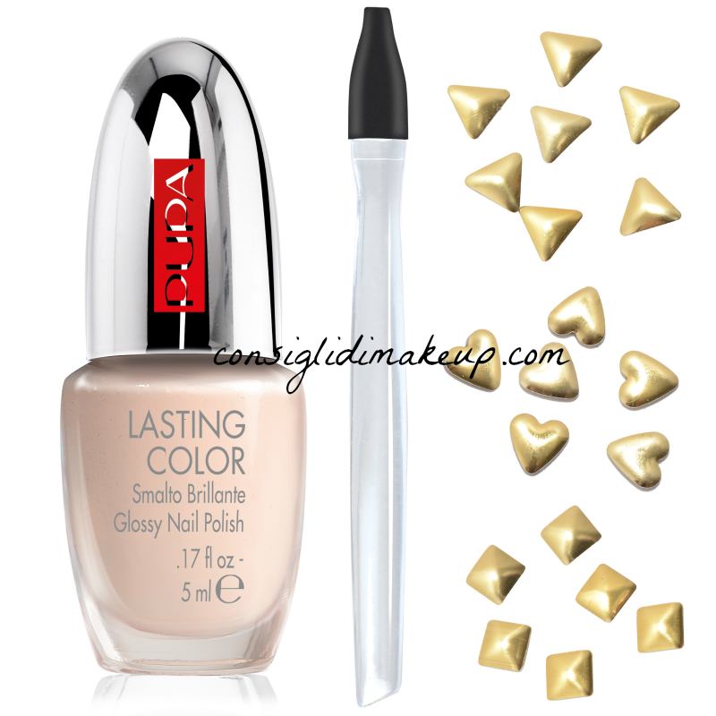 nuovi kit nail art mania pupa glam jewels gold