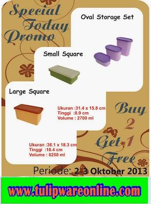 Promo Tulipware Tanggal 2-3 Oktober 2013