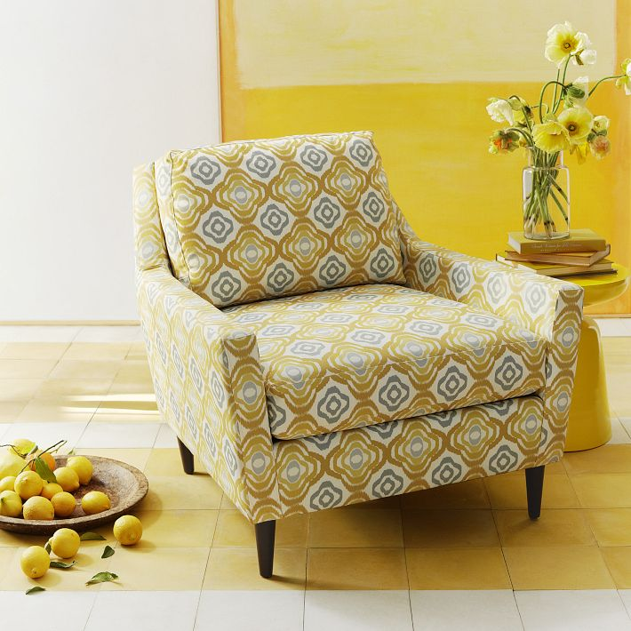 Visual jill interior design color inspiration yellow for West elm yellow chair