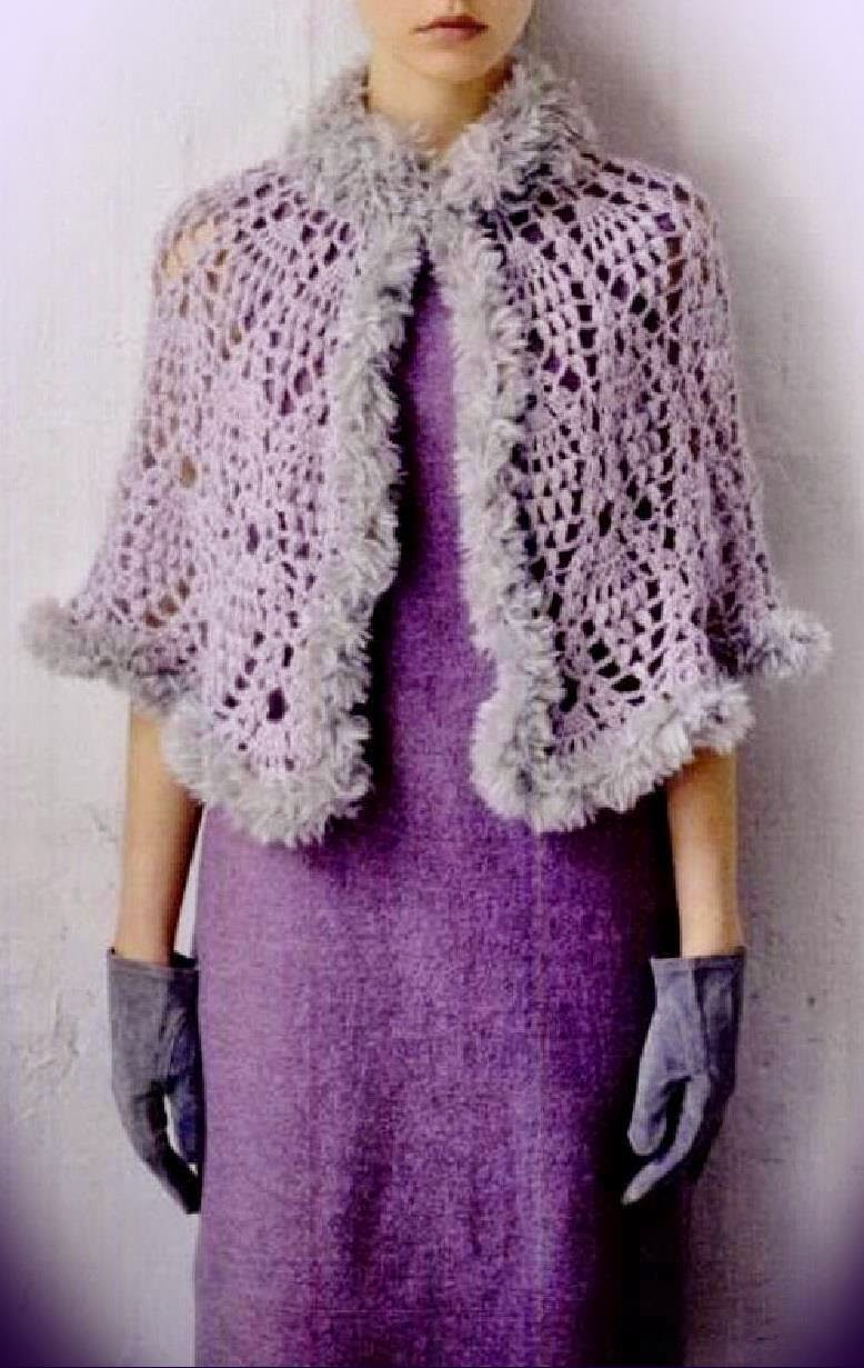 Crochet Patterns Capes : Crochet Shawls: Crochet Pattern Of Lace Cape - Gorgeous